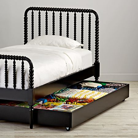 Jenny Lind Black Trundle Bed