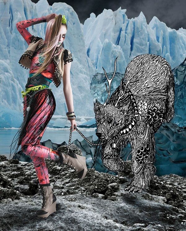 This Editorial Is To Race Awareness Towards Global Warming Lets Not Take The Arctic For Granted R Fashion Inspiration Design Mixed Media Photography Fashion