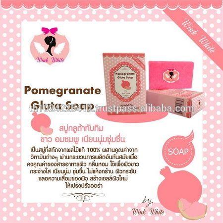 Look what I found Via Alibaba.com App: - Pomegranate Gluta Soap Beauty Skin by Wink White 70g