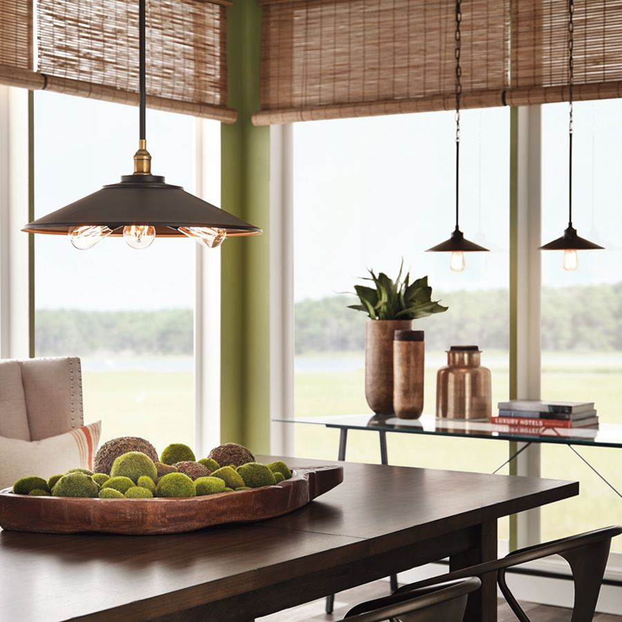 Bronze Pendant Lights For Kitchen Give Off Industrial Illumination With A Bronze Metal Pendant Light