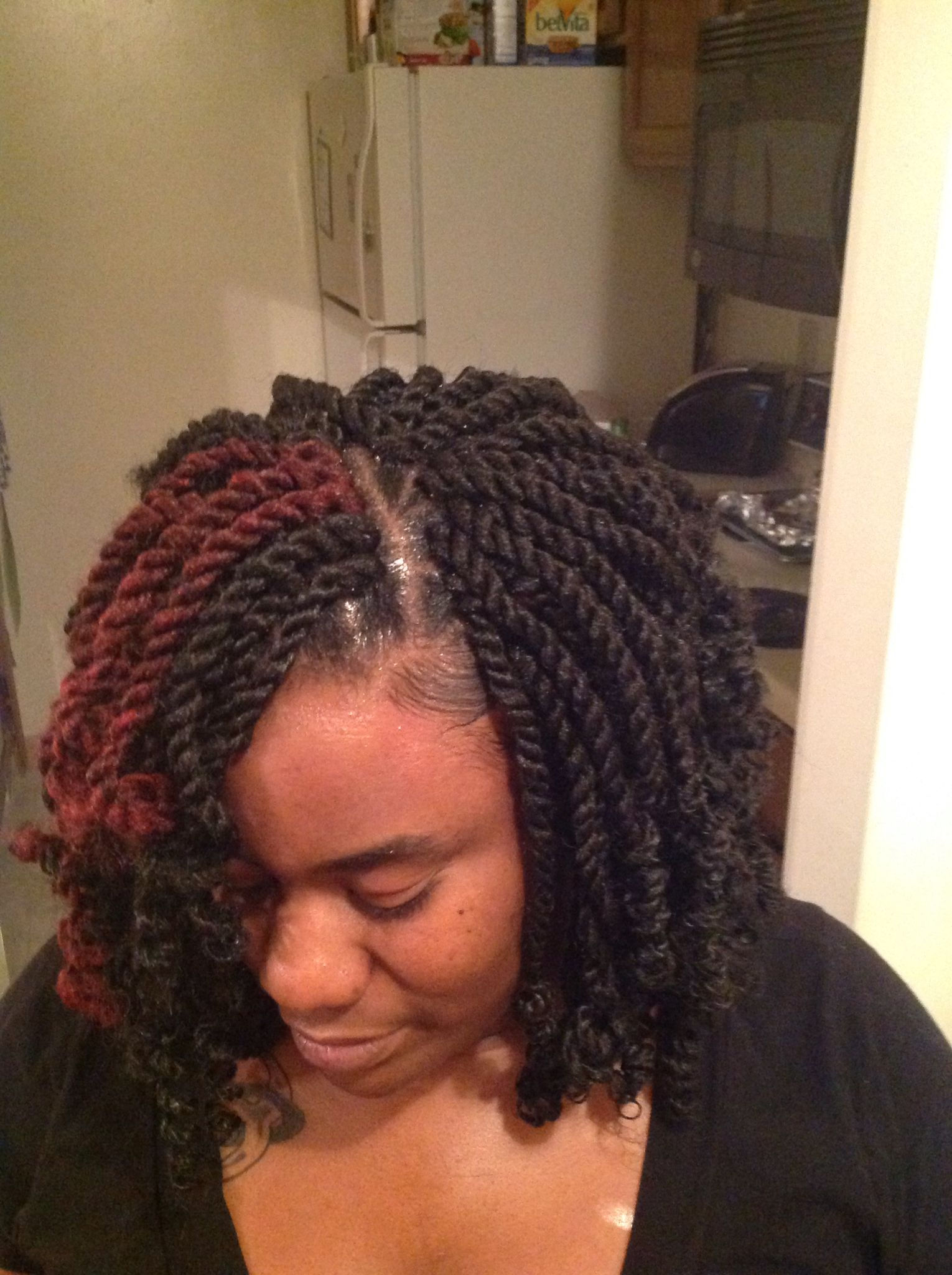 Crochet double strand twist on fleek