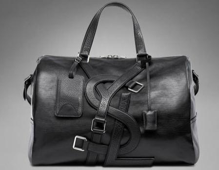 93294845c8 YSL Vavin Duffle Bag in Black Classic Leather men travel bags 1 ...