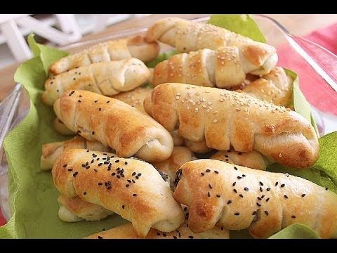 SPINAT-KÄSE-ROLLEN vegetarische Teigtaschen, einfacher Börek - türkische küche rezepte