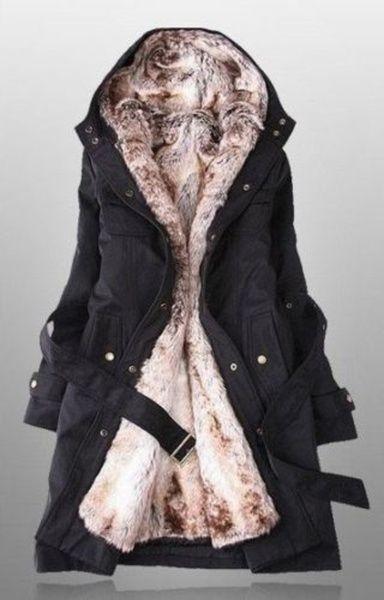 c9533db5b Lady Women Thicken Warm Winter Coat Hood Parka Overcoat Long Jacket Outwear