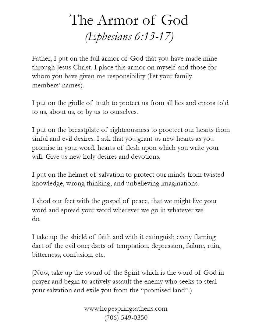 armour of god prayer | The Armor of God | Healthy, Wealthy & Wise ...