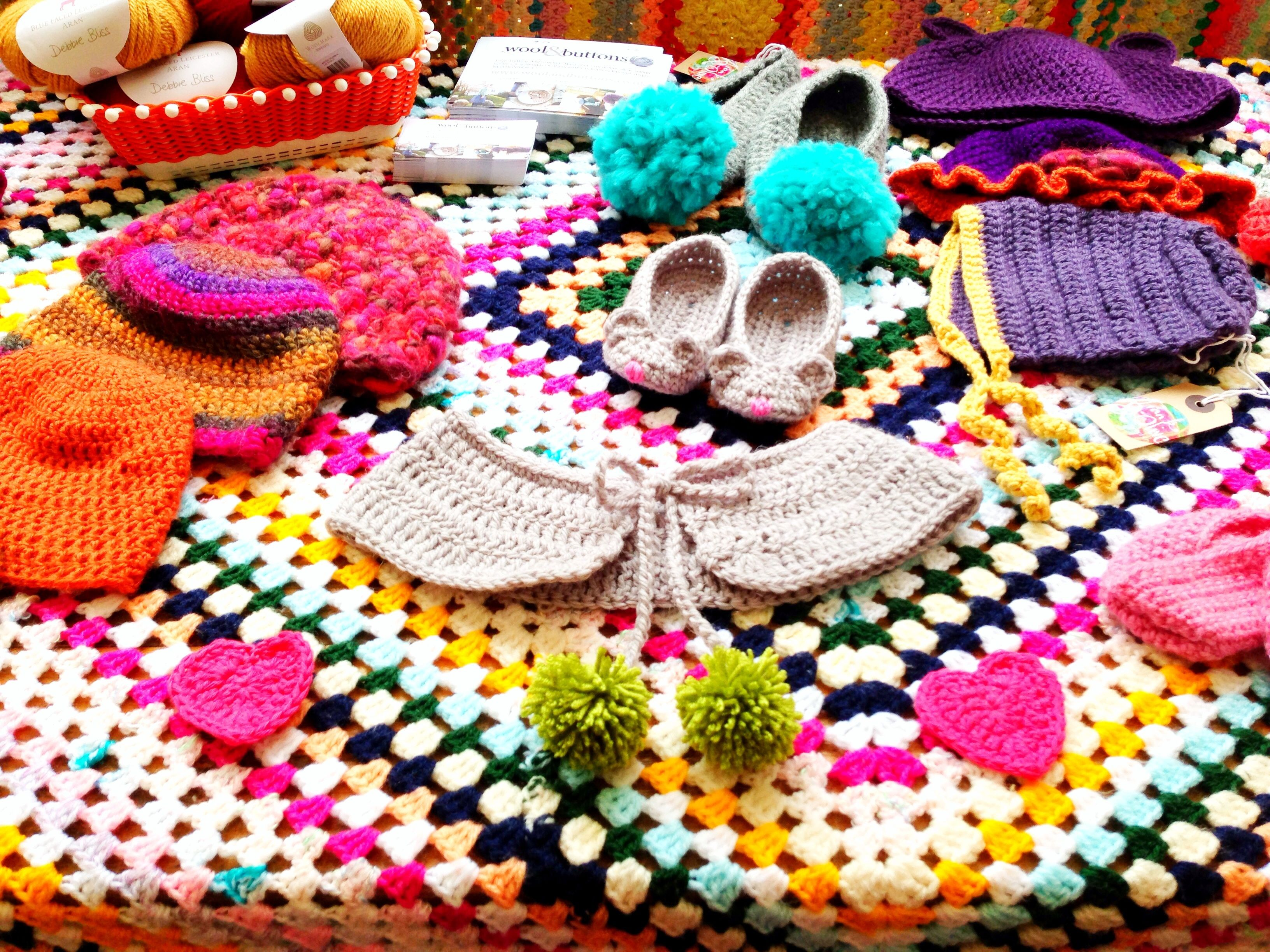 Crochet by Frank & Olive at the Folksy Summer School. Photo by Ruby McGrath http://folksy.com/shops/FrankandOlive