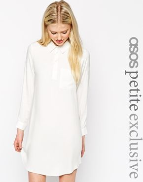 Clothing · ASOS PETITE Swing Shirt Dress with Long Sleeve