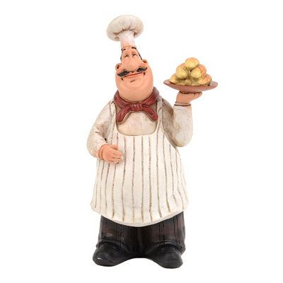 The Bistro Chef Statue Is Ready To Lend A Hand In The Kitchen! Accentuate  Your Kitchen With This Cute Statue.
