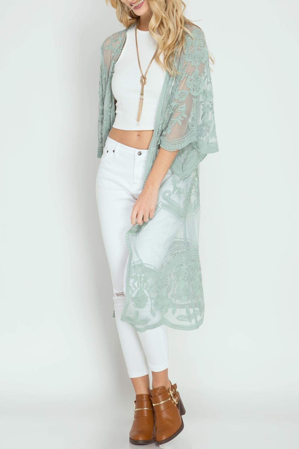 She   Sky Crochet Lace Duster | Sky clothing, Kimono style and ...