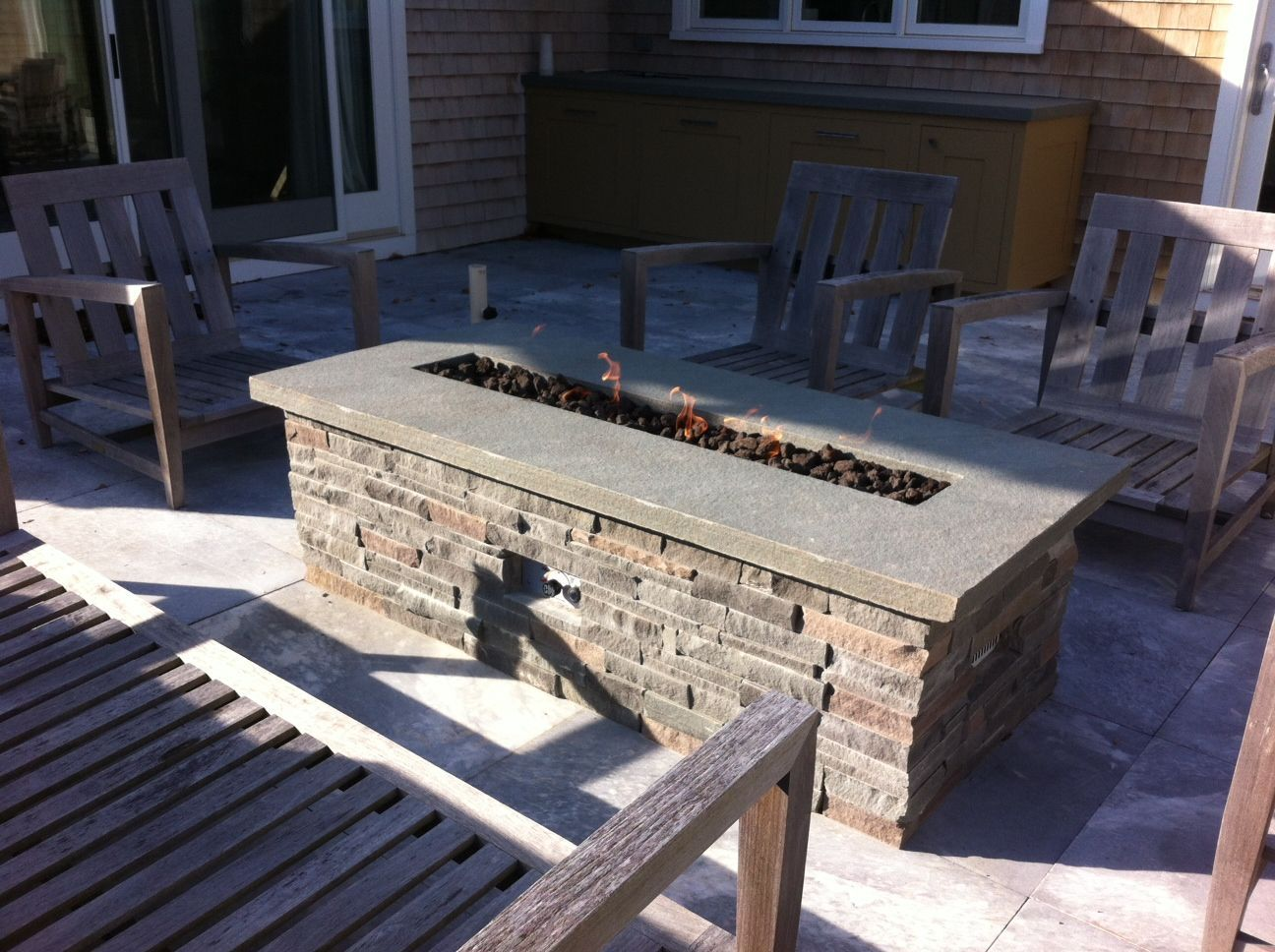 Diy natural gas fire pit table google search patio pinterest