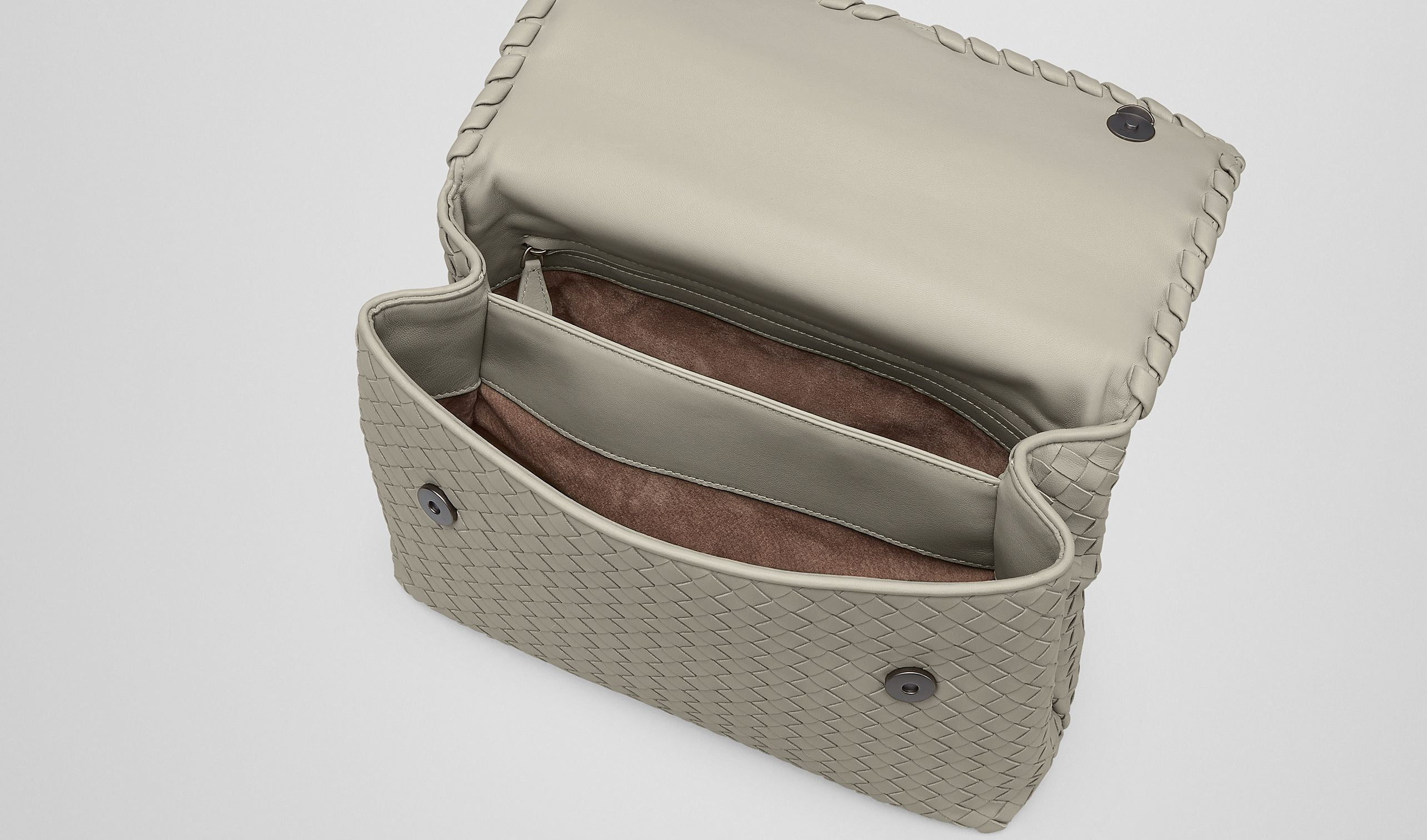 Bottega Veneta®|Tourmaline Intrecciato Nappa Olimpia Bag|Shoulder or hobo bag |Bags