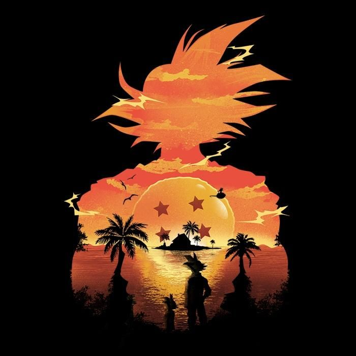 Four Star Sunset From Dandingeroz Want More Options For This Design Click Here Our Premi Dragon Ball Wallpapers Dragon Ball Artwork Anime Dragon Ball Super