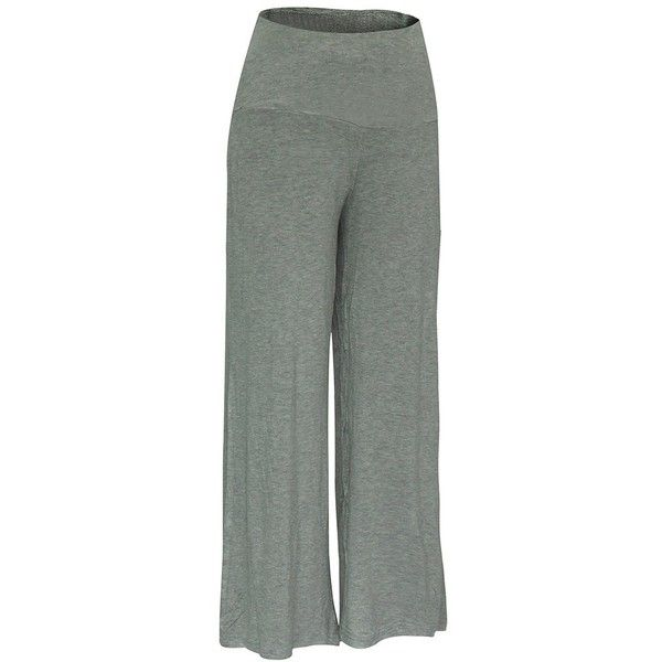 Elastic Waistband Palazzo Scrub Pants (785 INR) ❤ liked on Polyvore featuring pants, rosegal, elastic waist trousers, green palazzo pants, green pants, elastic waist pants and elasticated waist trousers