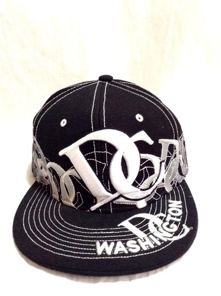 7e3f84ee Washington DC Hat Black White City Hunter Size XL Fitted Cap Graffiti  Design #CityHunter #BaseballCap