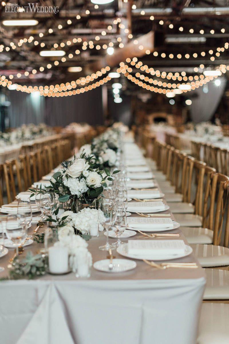 White & Grey Organic Wedding Inspiration #weddingreception
