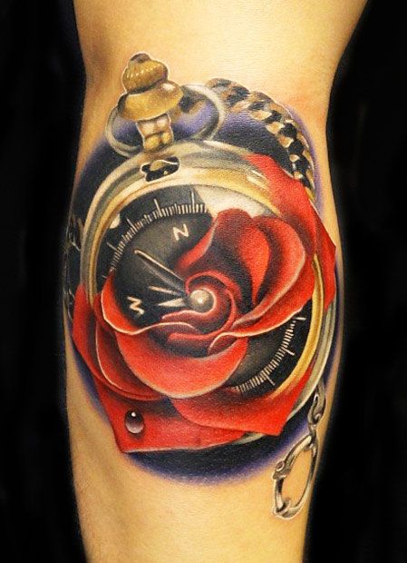 aead0a5b5c0 Time tattoo by Andres Acosta | Best tattoos | Tattoos, Rose tattoos ...