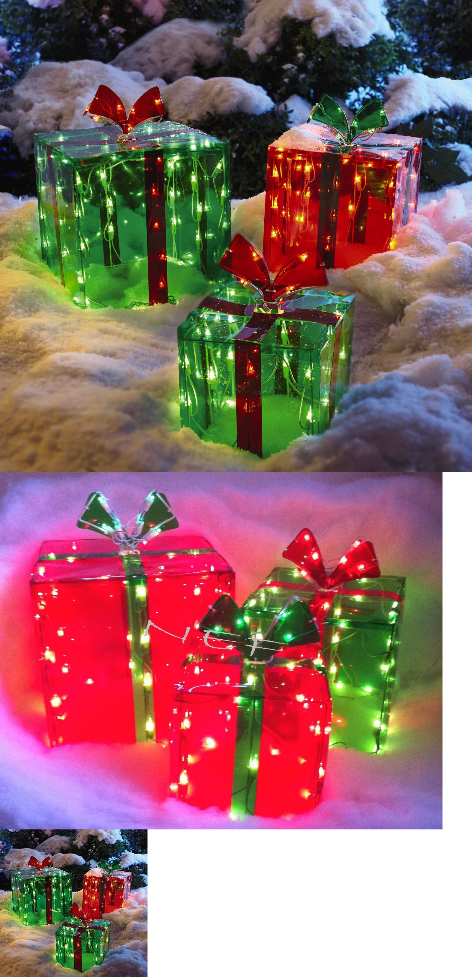 yard d cor 156812 3 lighted gift boxes christmas decoration yard decor 150 lights indoor - Lighted Gift Boxes Christmas Decorations