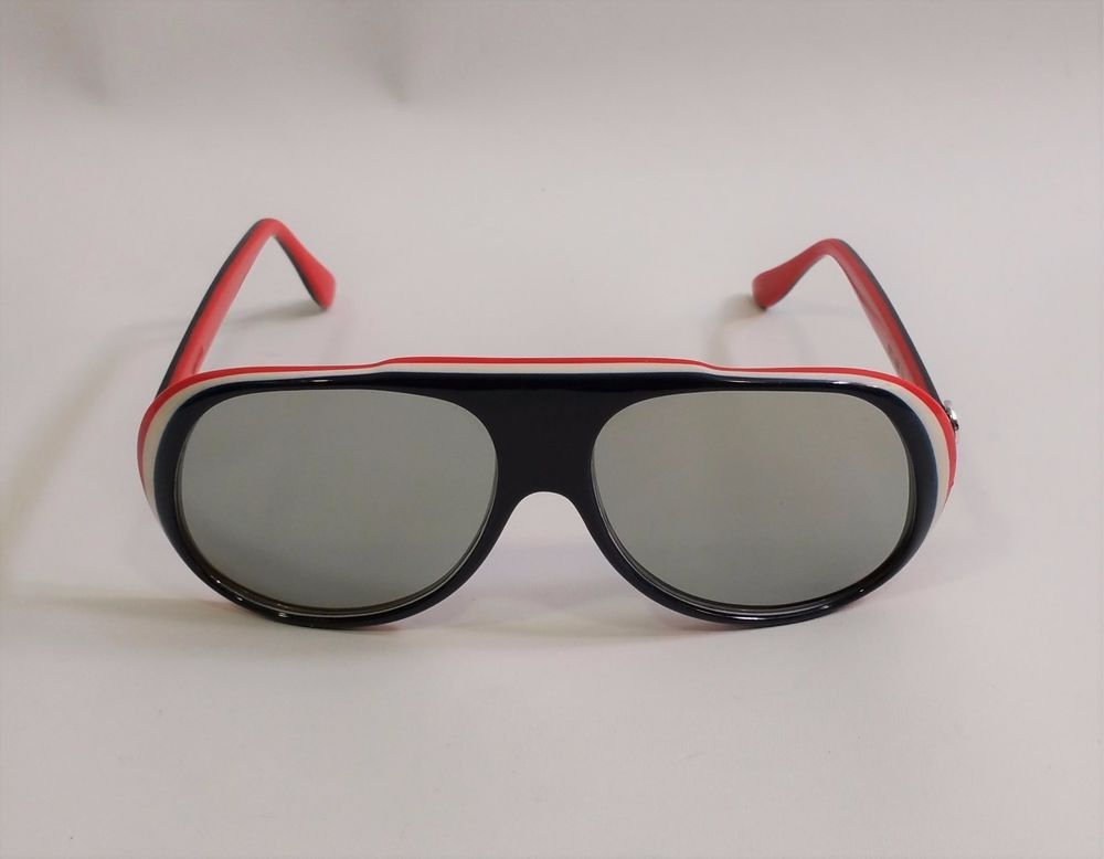 fe448e67b1 Vtg 80s I Ski Red White Blue Layered INCLINE Mirror Sunglasses Japan  ISki   Sport