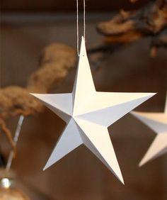 Schnelle Papiersterne 3D mit Vorlage                                                                                                                                                                                 Mehr #fensterdekoweihnachtenbasteln