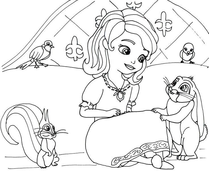 dibujos para colorear princesa sofia | Coloring Pages | Pinterest ...