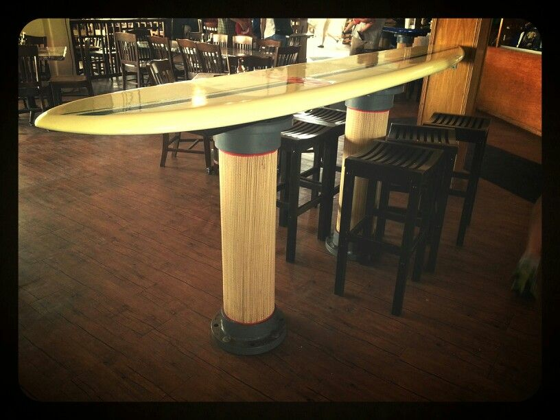 Delicieux #surfboard #bar #table #pub #coastal #hangten #longboard #beach