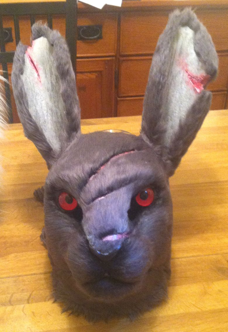 DEADLY BUNNY fursuit head- love it, well done, detailed ...