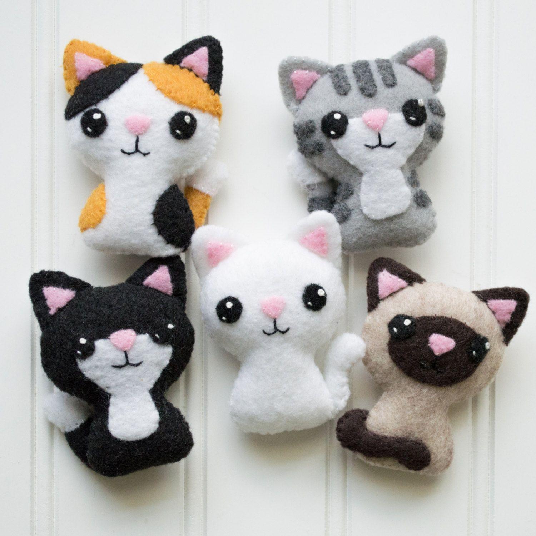 Felt Animals - Felt Cat - Softie Pattern - Plushie Pattern - Cat ...