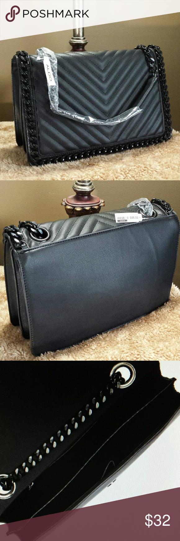 1feaf72dfbd Aldo - Black Crossbody  Shoulder Bag - NWT Aldo black chain strap multi  compartment Crossbody   Shoulder Bag - NWT ALDO Bags Crossbody Bags