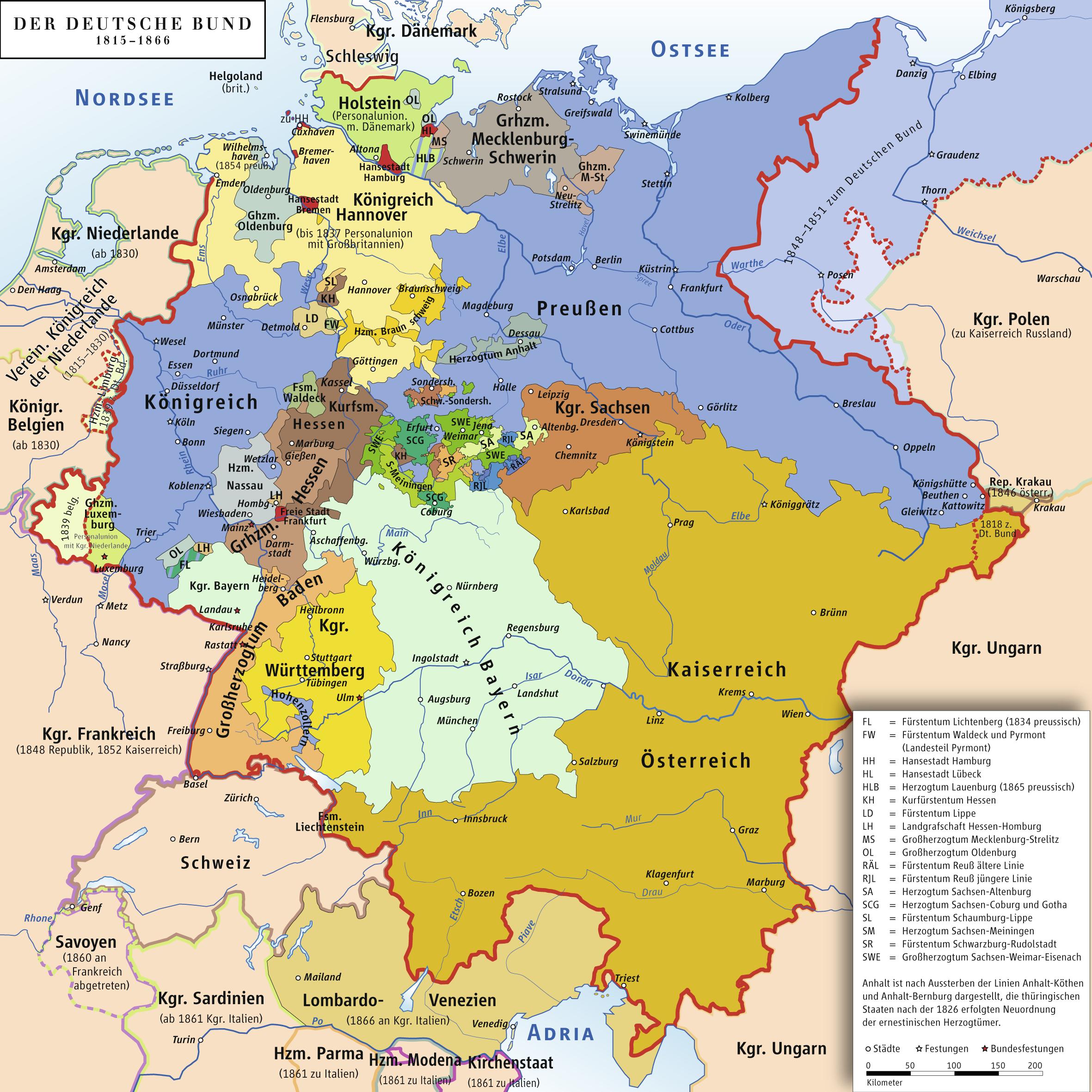 Map of The German Confederatio...