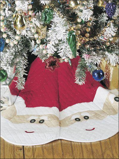 Jolly Santa Tree Skirt Christmas Tree Skirts Patterns Christmas Quilts Quilted Christmas Gifts