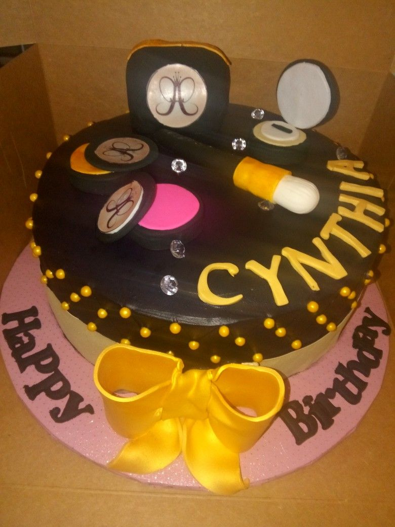 Anastasia Product Birthday Cake Pastel De Cumpleaos Con Maquillajes