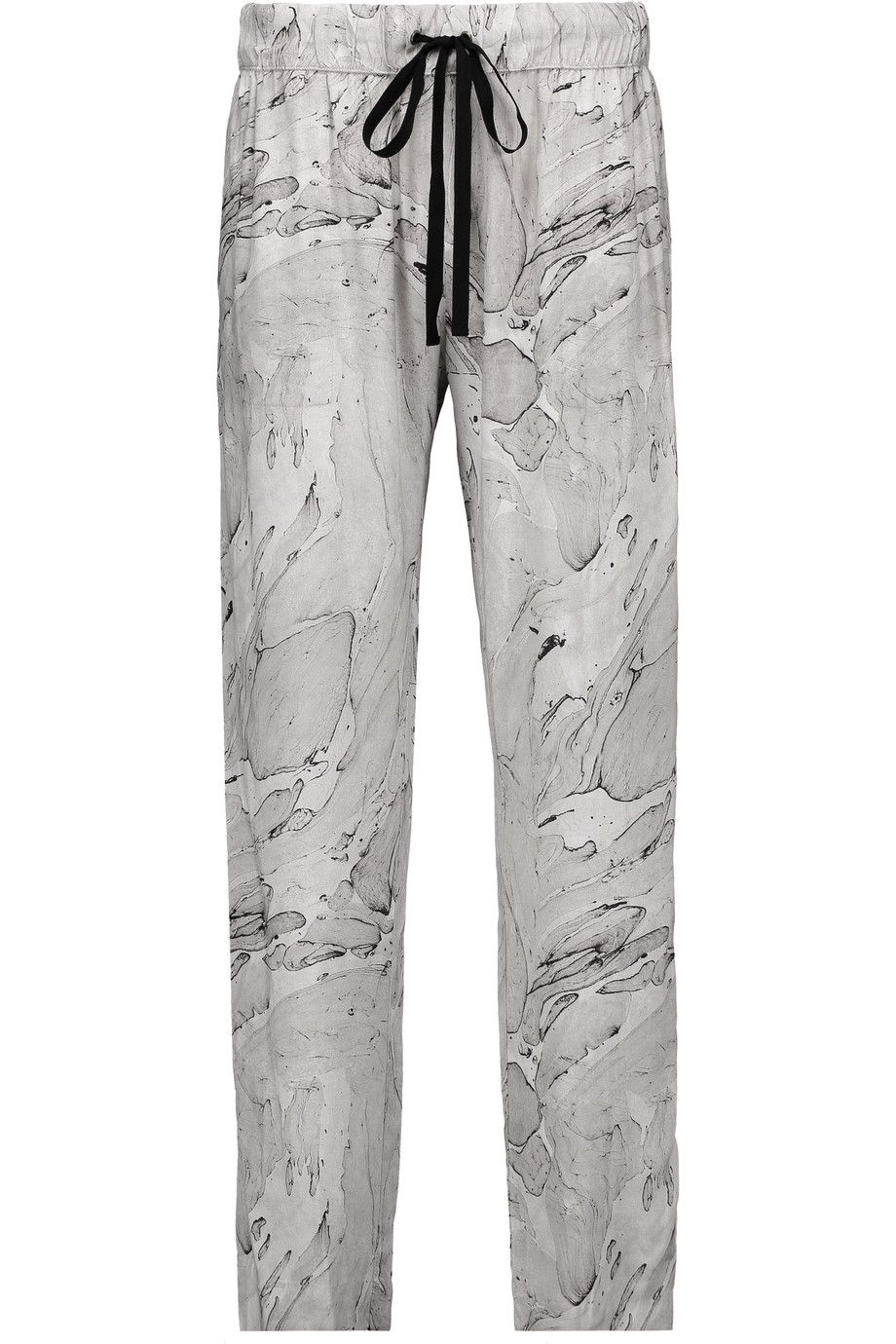 ENZA COSTA Printed Voile Tapered Pants. #enzacosta #cloth #pants