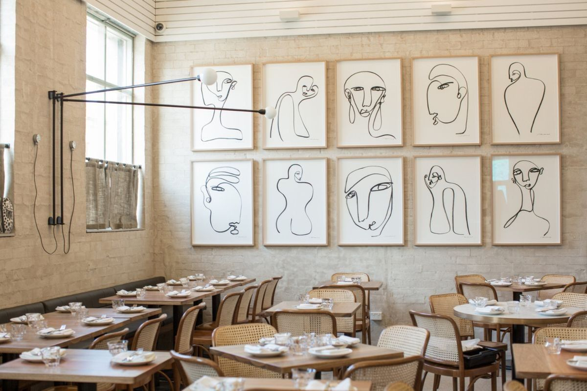 Lunchtime inspiration love that wall of line art designed by