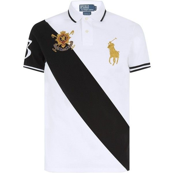 Polo Ralph Lauren Diagonal Stripe Black Watch Team Polo Shirt ( 195) ❤  liked on Polyvore featuring men s fashion db9e232451c