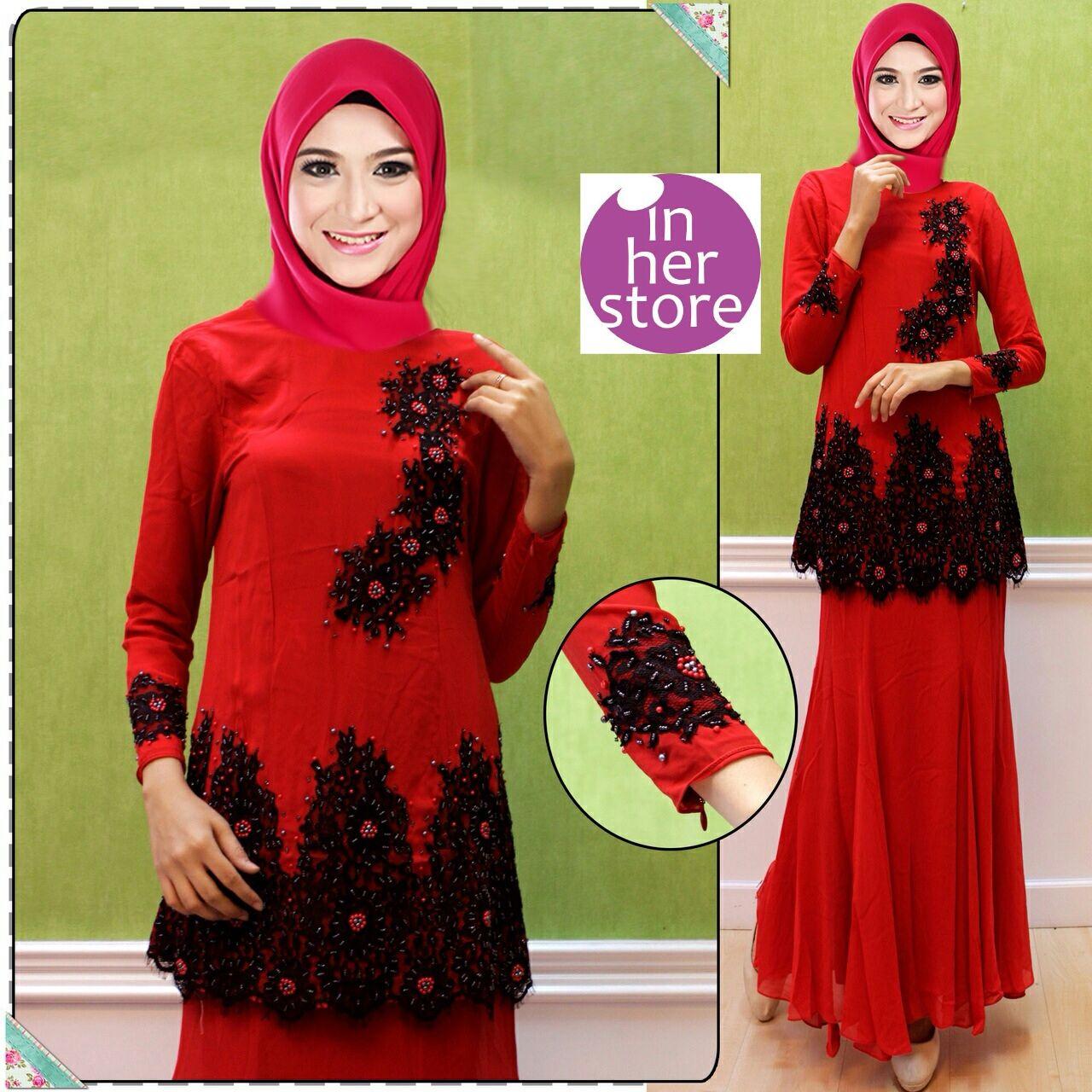 Baju Kurung by In Her Store Elsa Series Bahan Chiffon
