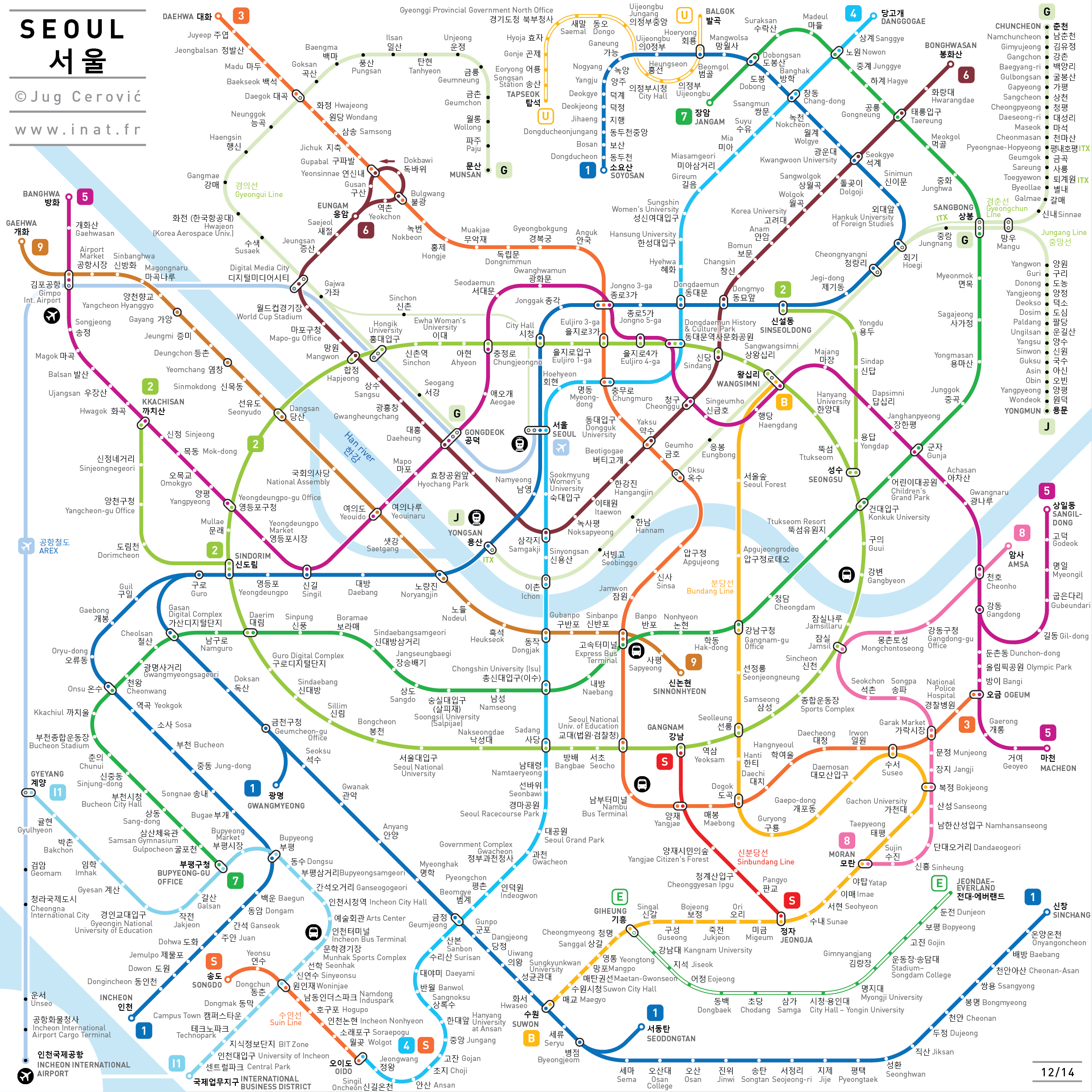 Seoul Metro Subway Map.Inat Metro Maps Metro Map Bus Map Subway Map