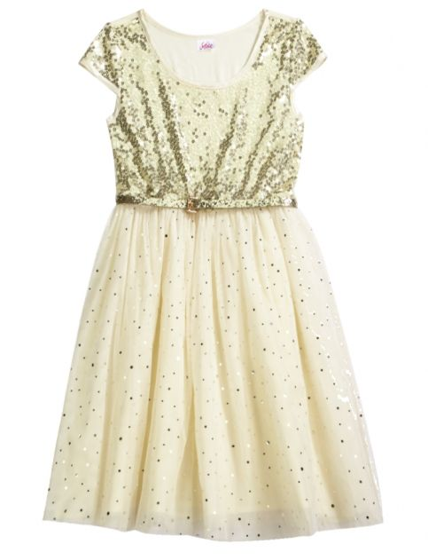 09c010ca403 Sequin Party Dress With Belt from Justice