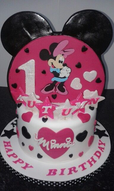 Micky and Minnie Half and Half Cake one side Rachels