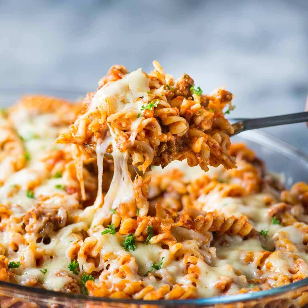 CHEESY PASTA BAKE WITH SAUSAGE