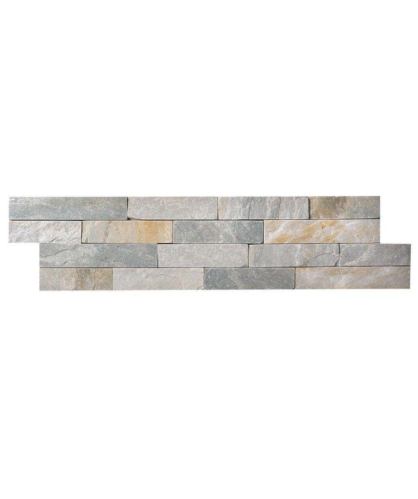 Ice White Slate Split Face Mosaic Topps Tiles