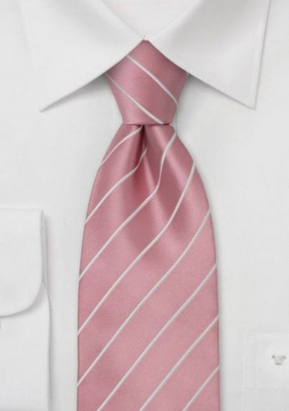 stripe-cherry blossom pink. Best paired with gray or navy suit.