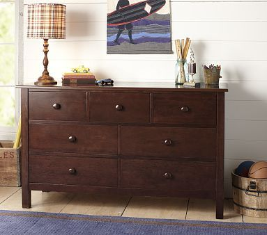 Kendall Extra Wide Dresser Tuscan Pottery Barn Kids
