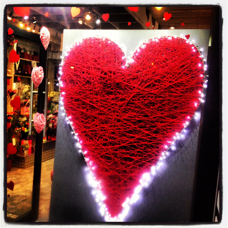 Valentines Day Window Display @ Urban Design Flowers