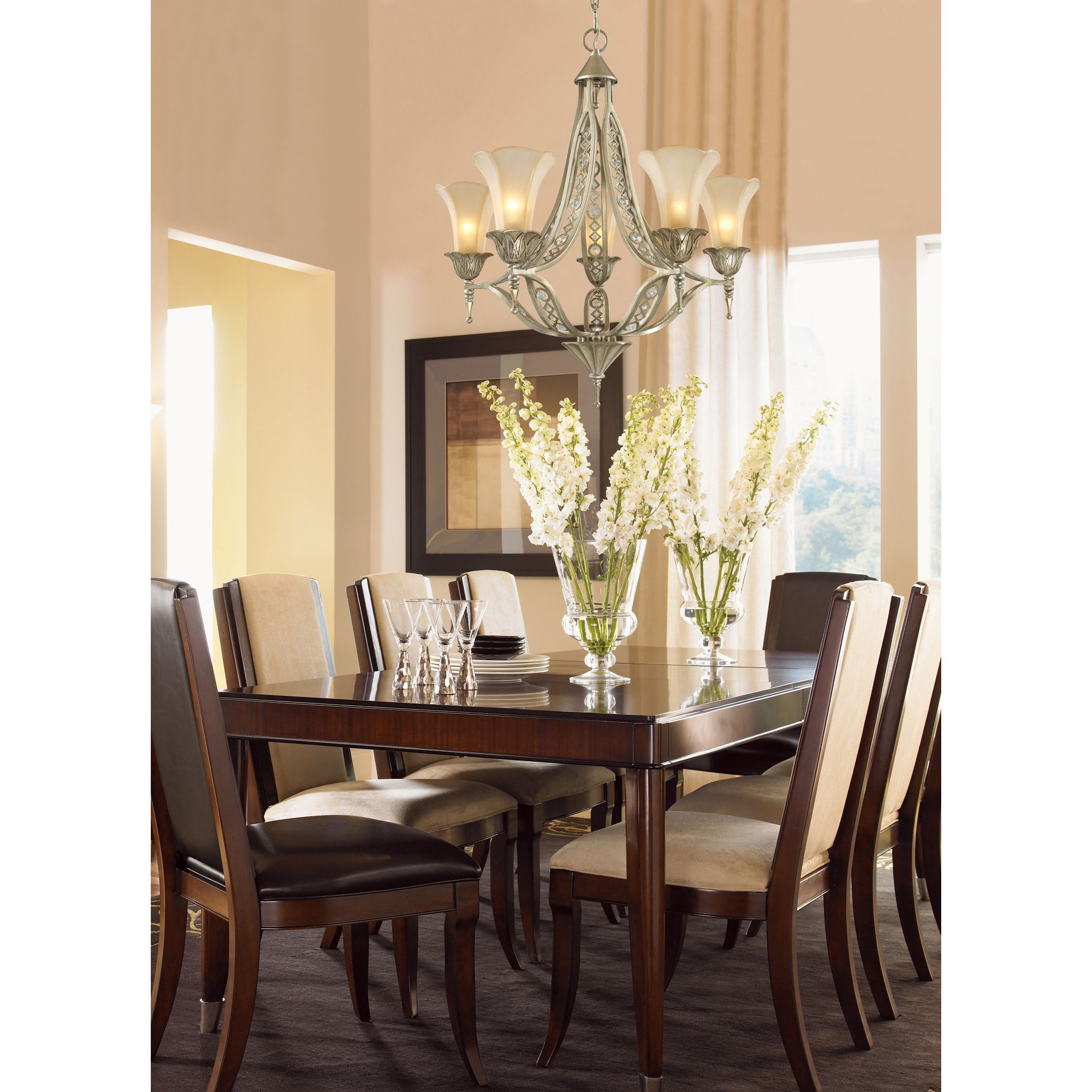 Chandeliers For Dining Room Traditional Five Light Aged Silver Chandelier $67500 Wwwwegotlites  For