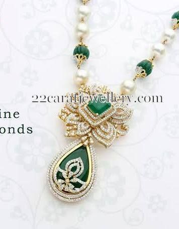 Jewellery designs diamond pendant traditional jwellery jewellery designs diamond pendant mozeypictures Images
