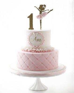 joli gâteau sur le thème des ballerines. d'autres idées déco