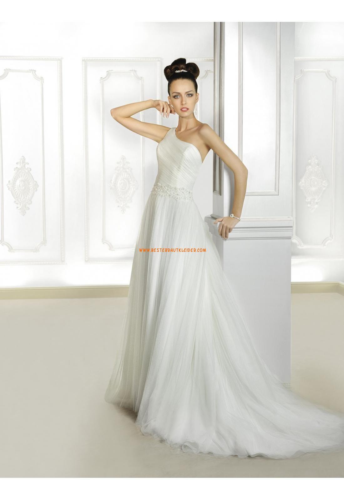 Cosmobella A-linie Schlichte Elegante Brautkleider aus Softnetz mit ...