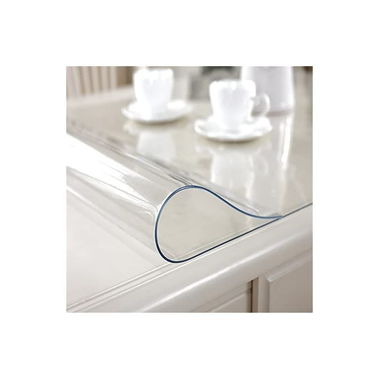Ostepdecor Custom 72 X 27 6 Inch Clear Table Cover Protector 1 5mm Thick Desk Cover Plastic Table Protector Clear Table Feedlinks Net Global Site In 2020 Countertop Covers Table Covers Desk Cover