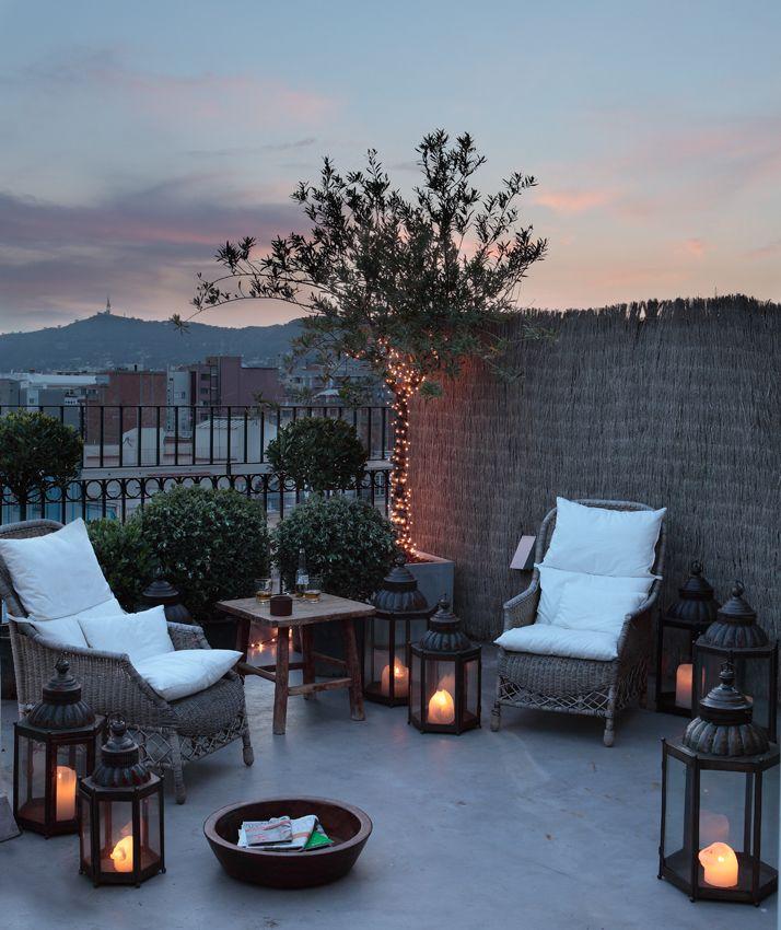 Atico san gervasio luzio outdoor rooms espacios al for Decoracion de terrazas de aticos pequenos