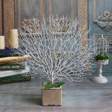 k nstliche schwarz wei pfau korallen ste kunststoff getrocknete k nstliche blumen f r. Black Bedroom Furniture Sets. Home Design Ideas